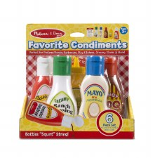 Melissa & Doug Food/Kitchen Play Set- Favorite Condiments