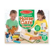 Melissa & Doug Pet Care Play Set- Feed & Groom Horse Care