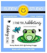 Sunny Studio Feeling Froggy Clear Stamp Set