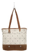 Myra Canvas Tote Bag- Ferris Wheel