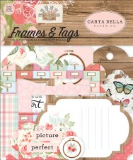 Farmhouse Market Ephemera Die Cuts- Frames & Tags