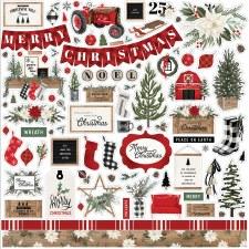 Farmhouse Christmas Sticker Sheet
