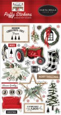 Farmhouse Christmas Stickers- Puffy