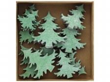 Green Christmas Trees, 12pc