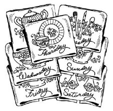 Aunt Martha's Iron On Transfers- Fine Chinaware #3764