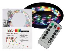 100ct Firefly Lights w/ Remote- Multi Colored