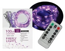 100ct Firefly Lights w/ Remote- Purple