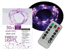 30ct Firefly Lights w/ Remote- Purple