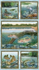 Nature & Wildlife Fabric Panel- First Catch