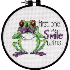 "Dimensions ""Learn a Craft"" Cross Stitch Kit- Best First One to Smile"