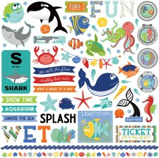 Fish Tales 12x12 Sticker Sheet