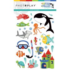 Fish Tales Puffy Stickers