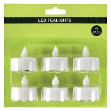 LED Battery Operated Tealights- 6pk