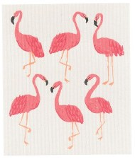 Swedish Dishcloth- Flamingos
