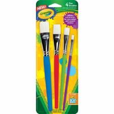 Crayola Paint Brushes, 4pk- Flat