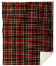 Plush Throw Blanket- Rust & Sage Plaid