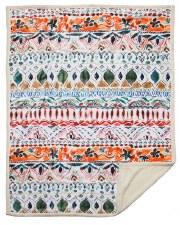 Plush Throw Blanket- Boho Stripe
