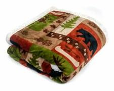 Plush Throw Blanket- Lodge Patch
