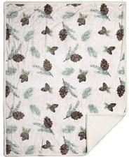 Plush Throw Blanket- Pinecones