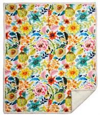 Plush Throw Blanket- Field of Flowers