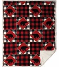 Plush Throw Blanket- Lumberjack Bear