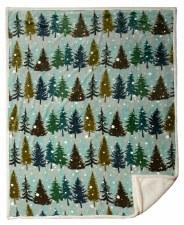 Plush Throw Blanket- Snowflake Forest