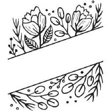 Darice Embossing Folder- Nature- Floral Blank