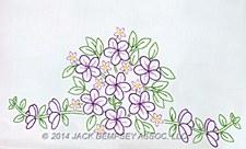 Pillowcases- Floral Bouquet Perle Edge