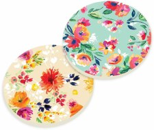 Car Coasters, 2pk- Floral Print