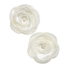 Floral Bridal Blooms Embellishments, 2ct- Ivory