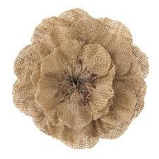 Floral Burlap Embellishments, 1ct- Natural Burlap