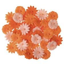 Floral Daisy Embellishments, 48ct- Blue Tones