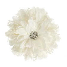 Floral Bridal Blooms Embellishments, 1ct- Lace Daisy