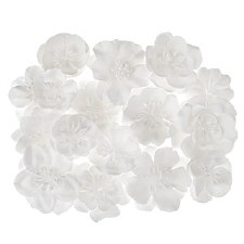 Floral Bridal Blooms Embellishments, 24ct- White Mulberry