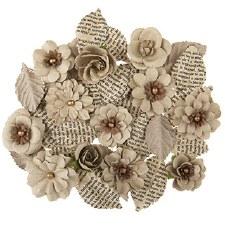 Floral Burlap Embellishments, 3ct- Burlap Roses
