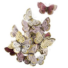 Butterfly Embellishments, 24ct- Pastel w/ Gold