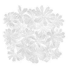 Floral Embellishment Jar, .6oz- White