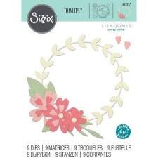 Sizzix Thinlits- Floral Wreath