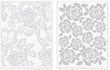 We R Memory Keepers Revolution Embossing Folders, 2pk- Florals