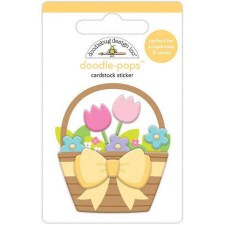 Hoppy Easter Doodle-Pops- Flower Basket