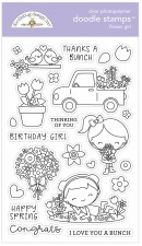 Doodle Stamps & Dies- Flower Girl Stamps