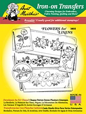Aunt Martha's Iron On Transfers- Flowers for Linens #3805