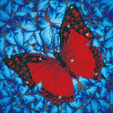 Diamond Facet Art Kit- Flutterby Red