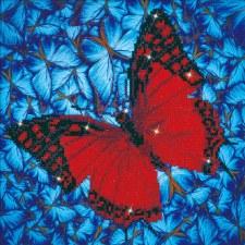 Diamond Facet Art Kit- Flutterby Red