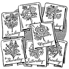 Aunt Martha's Iron On Transfers- Flowers of the Week #3963