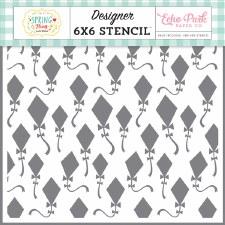 6x6 Stencil- Fly Kites