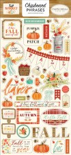 Fall Market Chipboard Phrases