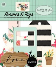 Flower Market Ephemera Die Cuts- Frames & Tags