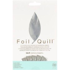 "Foil Quill Heart Activated Foil 30pk, 4""x6""- Silver Swan"