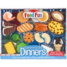 Melissa & Doug Food/Kitchen Play Set- Combine & Dine Dinners